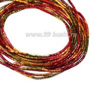 Трунцал (витая канитель) 1,5 мм, цвет меланж MN-28 пр-во Индия, упаковка 5 грамм (разные отрезки, общая длина около 2,3 метров) 057334 - 99 бусин