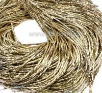 Трунцал (витая канитель) ОПТ 1,5 мм цвет MN-08 светлая бронза 100 граммов/упаковка Индия 057338 - 99 бусин