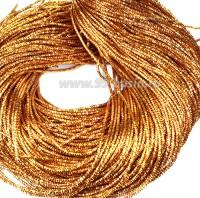Трунцал (витая канитель) ОПТ 1,5 мм цвет MN-10 жёлто-оранжевый 100 граммов/упаковка Индия 057339 - 99 бусин