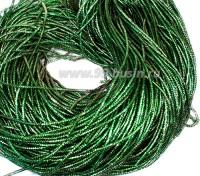 Трунцал (витая канитель) ОПТ 1,5 мм цвет MN-18 бутылочный зелёный 100 граммов/упаковка Индия 057344 - 99 бусин