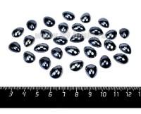 Кабошон керамический Капля 10*14 мм цвет гематит 30 штук/упаковка 057359 - 99 бусин