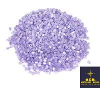 Рубка Matsuno Hexagon 2.1 мм цвет 337 хрустальный светло-лиловый перламутр  Япония 10 грамм 057380 - 99 бусин