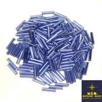 Стеклярус 9 мм гладкий Matsuno, цвет 43 светло-синий, Япония 10 граммов 057390 - 99 бусин