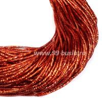 Трунцал (витая канитель) 1,5 мм цвет пылкий оранжевый MN-11 5 граммов/упаковка Индия 057407 - 99 бусин