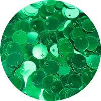 Пайетки 10 мм смещенное отверстие, цвет изумрудный  15 грамм пр-во Китай 057422 - 99 бусин