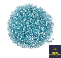 Рубка Matsuno Hexagon 2.1 мм цвет 47 светло-голубой, серебр. отверстие Япония 10 грамм 057437 - 99 бусин