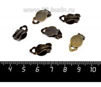 Основа для клипс Гладкая площадка 10 мм, цвет бронза, 3 пары/упаковка 057451 - 99 бусин