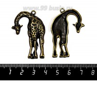 Подвеска Жираф 44*29 мм, цвет бронза 1 штука 057472 - 99 бусин