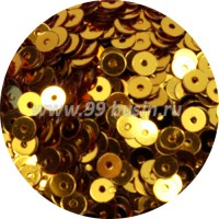 Пайетки 4 мм, яркое золото 15 грамм пр-во Китай 057514 - 99 бусин