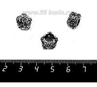 Бусина металлическая Ажурный Веночек 13*8 мм старое серебро, внутреннее отверстие - 7 мм, цвет 1 штука 057561 - 99 бусин