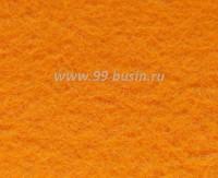 Фетр, материал полиэстр, цвет мандариновый, размер 30*20 см,  толщина 1 мм,  1 лист 057758 - 99 бусин