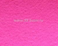 Фетр, материал полиэстр, цвет неоновый розовый, размер 30*20 см,  толщина 1 мм,  1 лист 057760 - 99 бусин