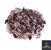 Стеклярус витой Matsuno 670 TW 9 мм, цвет сиреневый радужный, Япония 10 граммов 057793 - 99 бусин