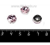 Стразы стеклянные пришивные в латунных цапах Квадрат 10*10 мм цвет нежно-розовый, 1 штука 057849 - 99 бусин
