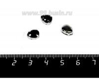 Стразы стеклянные пришивные в цапах Капелька 8*6 мм цвет глубокий чёрный, 1 штука 057859 - 99 бусин