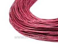 ОПТ Шнур вощёный 1 мм, цвет темно-розовый, в пасме, 100% хлопок около 68 метров 057970 - 99 бусин