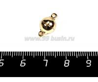 Замок магнитный шарик 14*8 мм золото 1 штука 057980 - 99 бусин