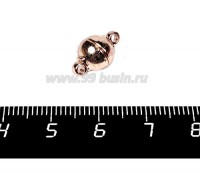 Замок магнитный шарик 14*8 мм розовое золото 1 штука 057981 - 99 бусин