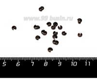 Крышечки кримпов 2,5 мм цвет медь 20 штук/упаковка 058004 - 99 бусин
