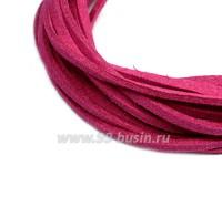 """Шнур искусственный """"Замша"""" 2,5*1 мм цвет дерзкий розовый 3 отрезка по 1 метру/упаковка 058025 - 99 бусин"""