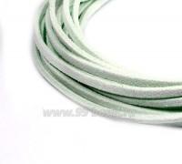 """Шнур искусственный """"Замша"""" 2,5*1 мм цвет светло-мятный 3 отрезка по 1 метру/упаковка 058036 - 99 бусин"""