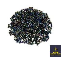 Стеклярус витой Matsuno 748R 6 мм, цвет радужный ирис, Япония 10 граммов 058066 - 99 бусин