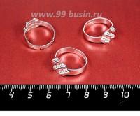 Основа для кольца 7 петель цвет светлое серебро 3 штуки/упаковка 058070 - 99 бусин