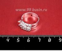 Основа для кольца 12 петель цвет светлое серебро 1 штука 058071 - 99 бусин