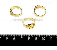 Основа для кольца 7 петель цвет золото 3 штуки/упаковка 058073 - 99 бусин