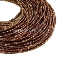 Канитель FANCY 1,5 мм гладкая упругая, цвет copper/chocolate (медь/шоколад) 5 граммов (около 1,7 метров) 058079 - 99 бусин