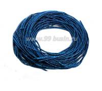 Канитель ОПТ FANCY 1,5 мм гладкая упругая, цвет turquise/blue meta (бирюзовый/синий металлик) 50 граммов (около 17 метров) 058131 - 99 бусин