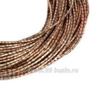 Канитель FANCY 1,5 мм гладкая упругая, цвет orange/silver (оранжевый/серебристый) 5 граммов (около 1,5 метров) 058169 - 99 бусин