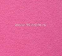 Фетр, материал полиэстр, цвет бабл гам 30*20 см,  толщина 1 мм,  1 лист 058179 - 99 бусин