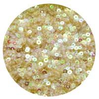 Мини пайетки плоские 2,5 мм Light Peach Color Transparent Finish Sequins № 836 Индия 5 грамм (около 2000 штук) 058199 - 99 бусин