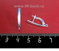 Швензы Высокие ювелирные Вертикаль 22*3 мм, посеребрение 12 мк, 1 пара, Россия 058245 - 99 бусин