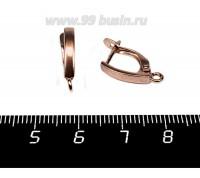 Швензы ювелирные № 10, 16*10*3 мм, покрытие старая медь, 1 пара, производство Россия 058257 - 99 бусин