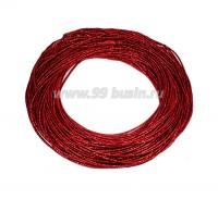Канитель ОПТ SLIM FANCY 1,3 мм гладкая упругая, цвет red metal (красный металлик) 50 граммов (около 17 метров) 058286 - 99 бусин