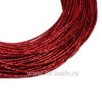 Канитель SLIM FANCY 1,3 мм гладкая упругая, цвет red metal (красный металлик) 5 граммов (около 2,3 метров) 058289 - 99 бусин