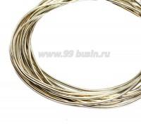 Канитель гладкая глянцевая 1 мм, цвет MD-05 античное золото Индия, упаковка 5 граммов (разные отрезки, общая длина около 2,8 метров) 058304 - 99 бусин
