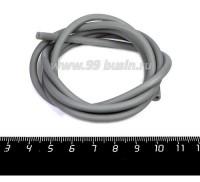 Шнур латексный (трубка) полый 4 мм серый 1 метр/упаковка 058335 - 99 бусин