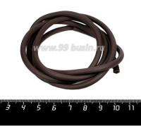 Шнур латексный (трубка) полый 4 мм коричневый 1 метр/упаковка 058336 - 99 бусин