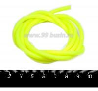 Шнур латексный (трубка) полый 4 мм неоновый желтый 1 метр/упаковка 058338 - 99 бусин