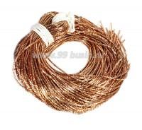 Трунцал ОПТ (витая канитель) 1,5 мм, цвет MN-06 тёмное розовое золото, Индия, 50 грамм (около 30 метров) 058360 - 99 бусин