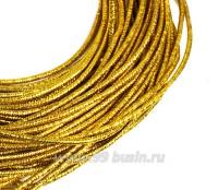 Канитель FANCY 1,5 мм гладкая упругая, цвет golden shine (золотое сияние) 5 граммов (около 1,7 метров) 058364 - 99 бусин