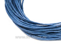 Шнур вощеный 1 мм, цвет лазурный 6 метров/упаковка 058395 - 99 бусин