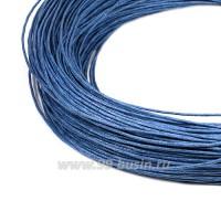 ОПТ Шнур вощёный 1 мм, цвет лазурный, в пасме, 100% хлопок около 73 метров 058397 - 99 бусин