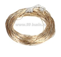 Канитель ОПТ гладкая глянцевая 1 мм, цвет MD-02 светлое золото, пр-во Индия, 50 граммов (около 26 метров) 058421 - 99 бусин