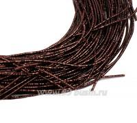 Канитель SLIM FANCY 1,3 мм гладкая упругая, цвет dark brown metal (шоколадный металлик) 5 граммов (около 2,3 метров) 058438 - 99 бусин