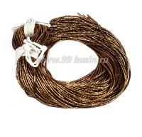 Трунцал ОПТ (витая канитель) 1,5 мм, цвет MN-25 золотисто-коричневый, Индия, 50 грамм 058443 - 99 бусин