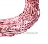 Канитель гладкая глянцевая 1 мм, цвет MD-09 розовый Индия, упаковка 5 граммов (разные отрезки, общая длина около 2,8 метров) 058455 - 99 бусин